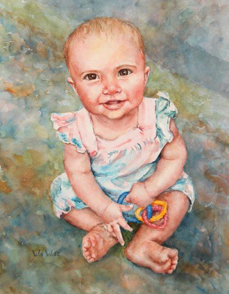 "Lil' Norah Watercolor 10.5""x13.5"" 2020 07"