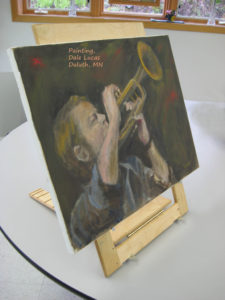 Oil Painting on Tabletop Easel